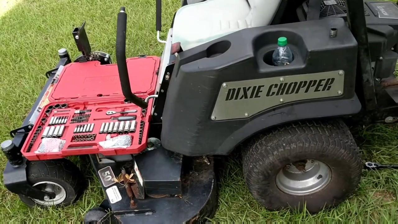 How To change the drive belt on a zero turn mower Dixie chopper