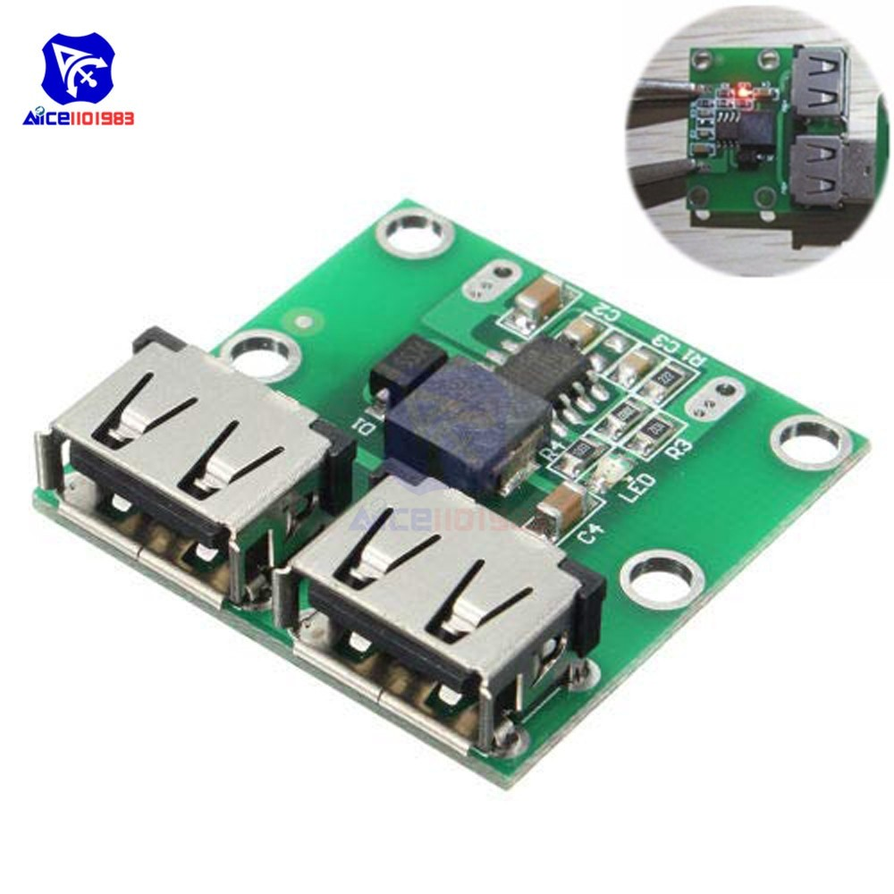 9V 12V 24V to 5V DC DC Step Down Charger Power Module 2 Double Dual