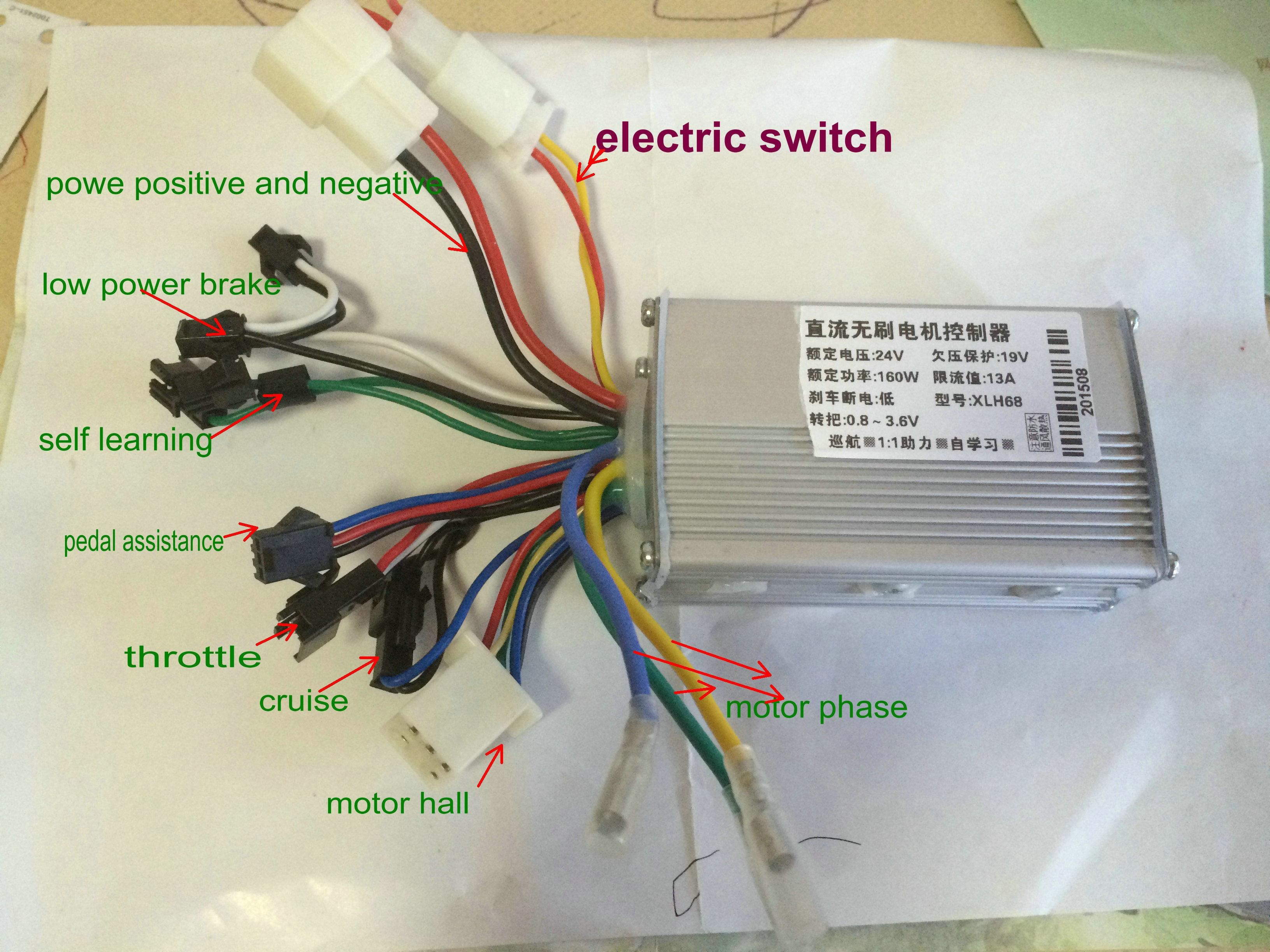 24v36v48v 250w350w bldc motor speed controller