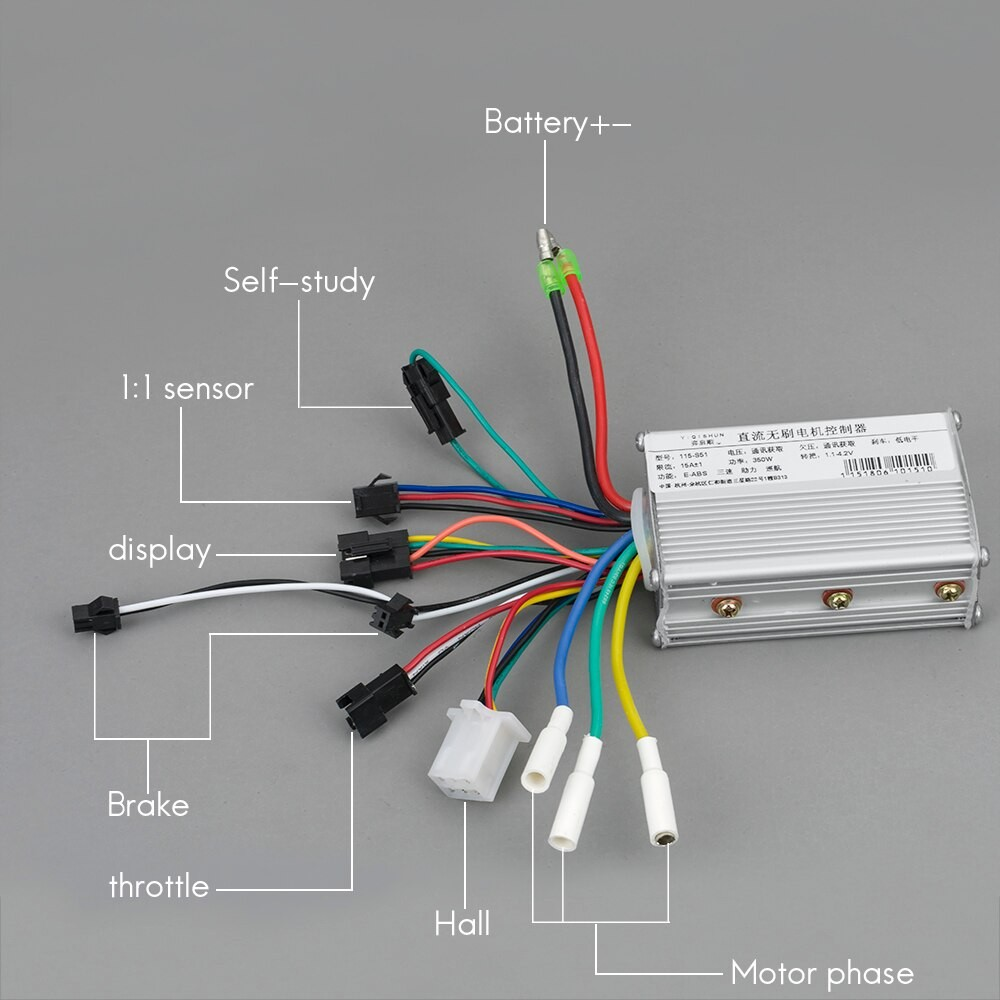 Electric bike accessories 250W 350w 24V 36V 48V DC Mode e scooter Brushless Motor Controller with LCD for ebike in Electric Bicycle Accessories from Sports
