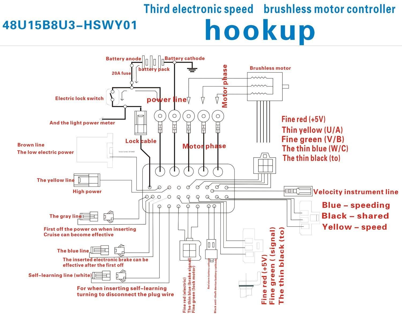 Sunwin 48V 1000W Electric Bicycle Brushless Speed Motor Amazon Electronics