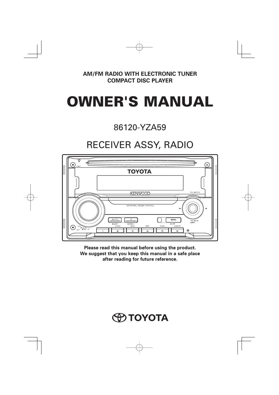 toyota yza59 user manual