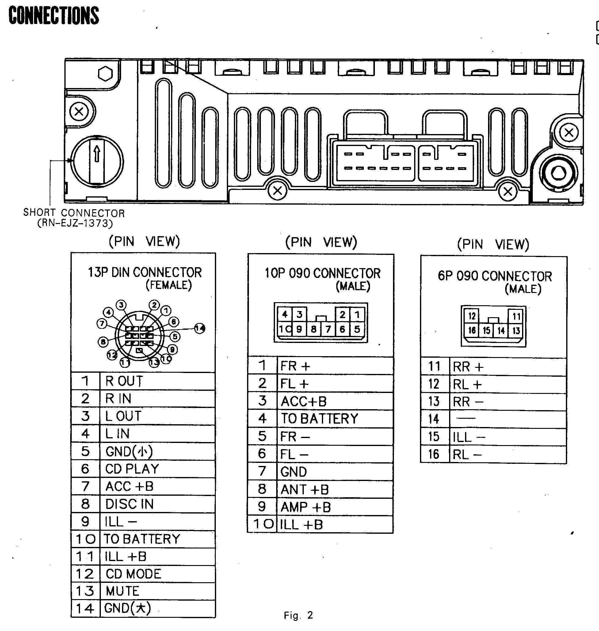 Fujitsu Ten 86120 Pinout New