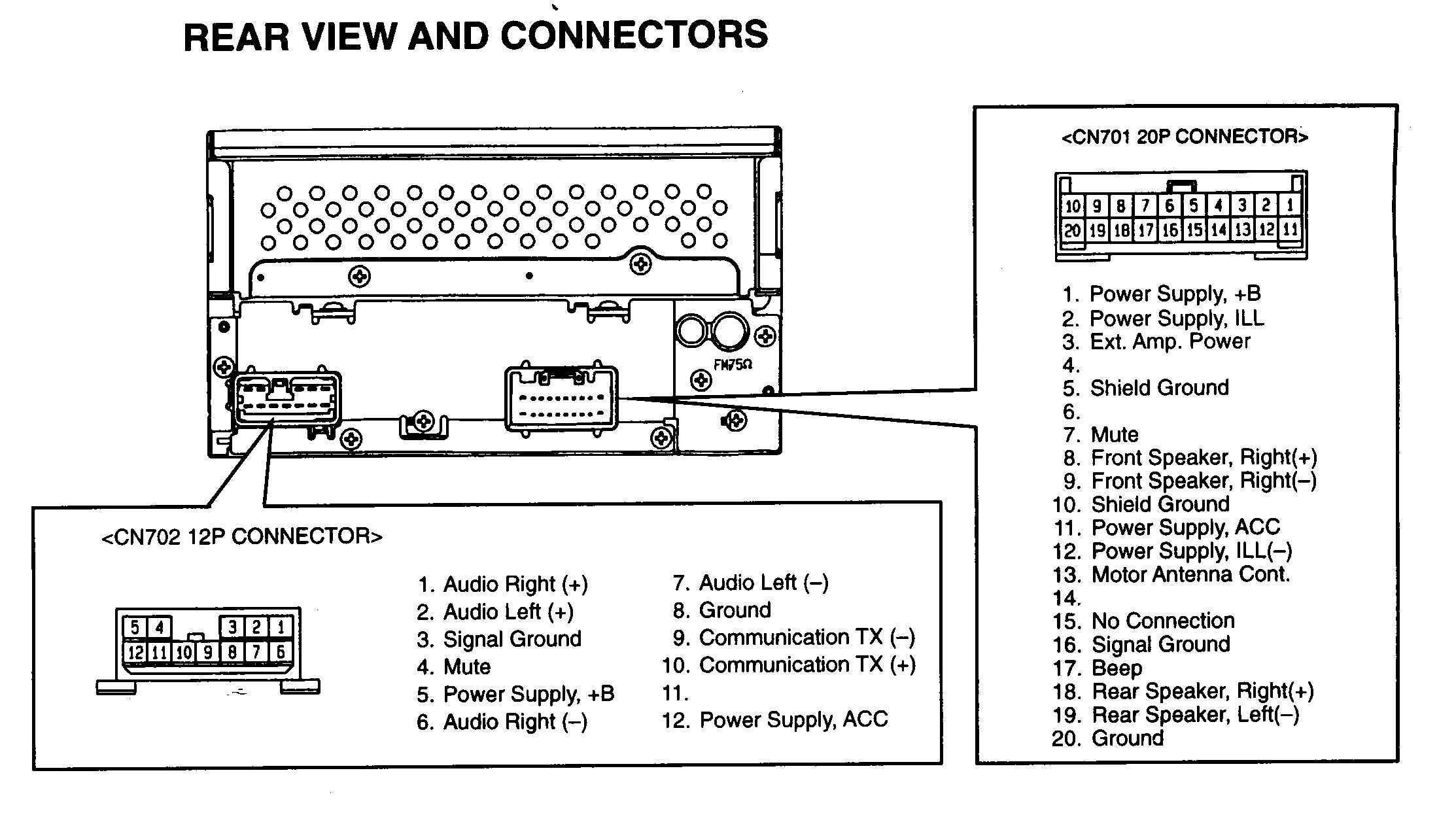 Fujitsu Ten Wiring Diagram  Fujitsu Ten 86120 Bz120