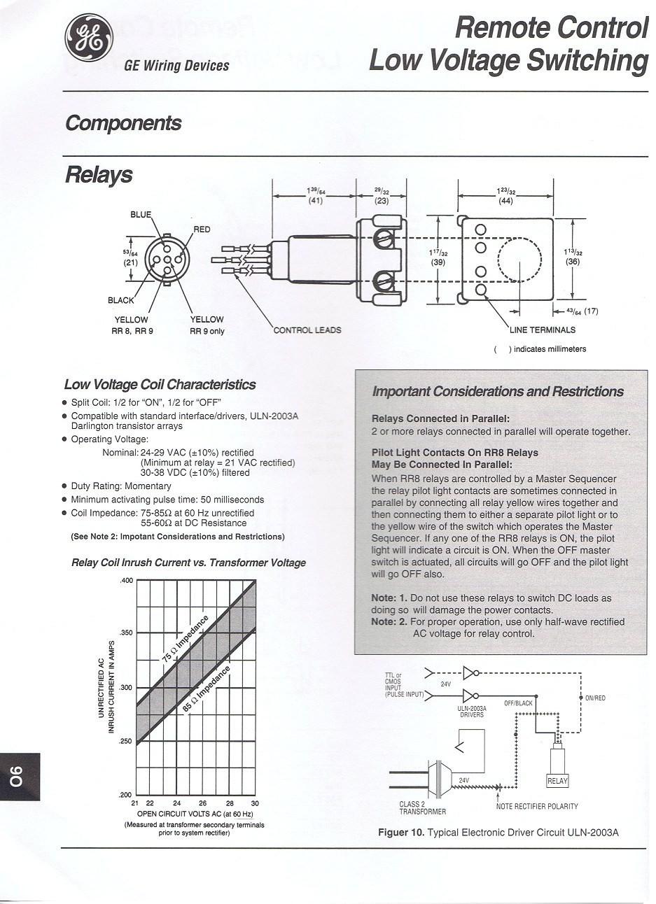 Ge Relay Wiring Diagram Wiring Diagram User Ge Rr8 Wiring Diagram