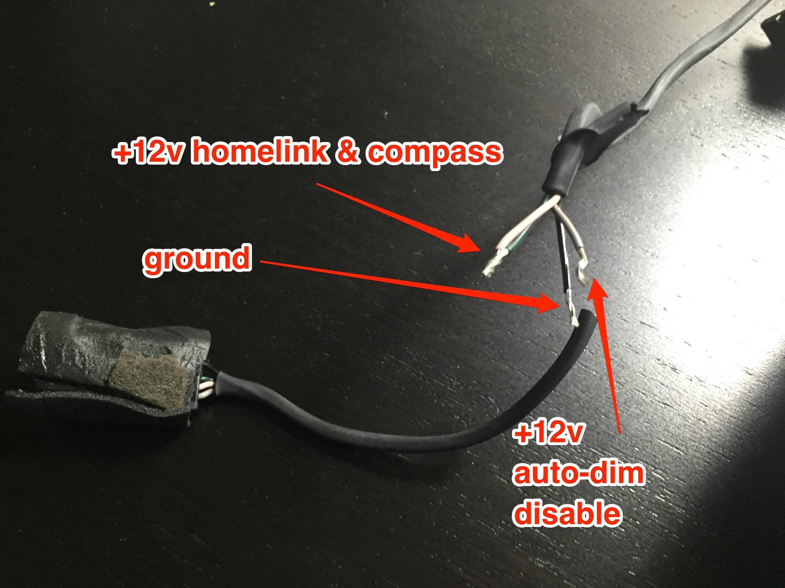 Gentex 536 Wiring Diagram Dyi Auto Dimming Mirror W Homelink pass Installation [