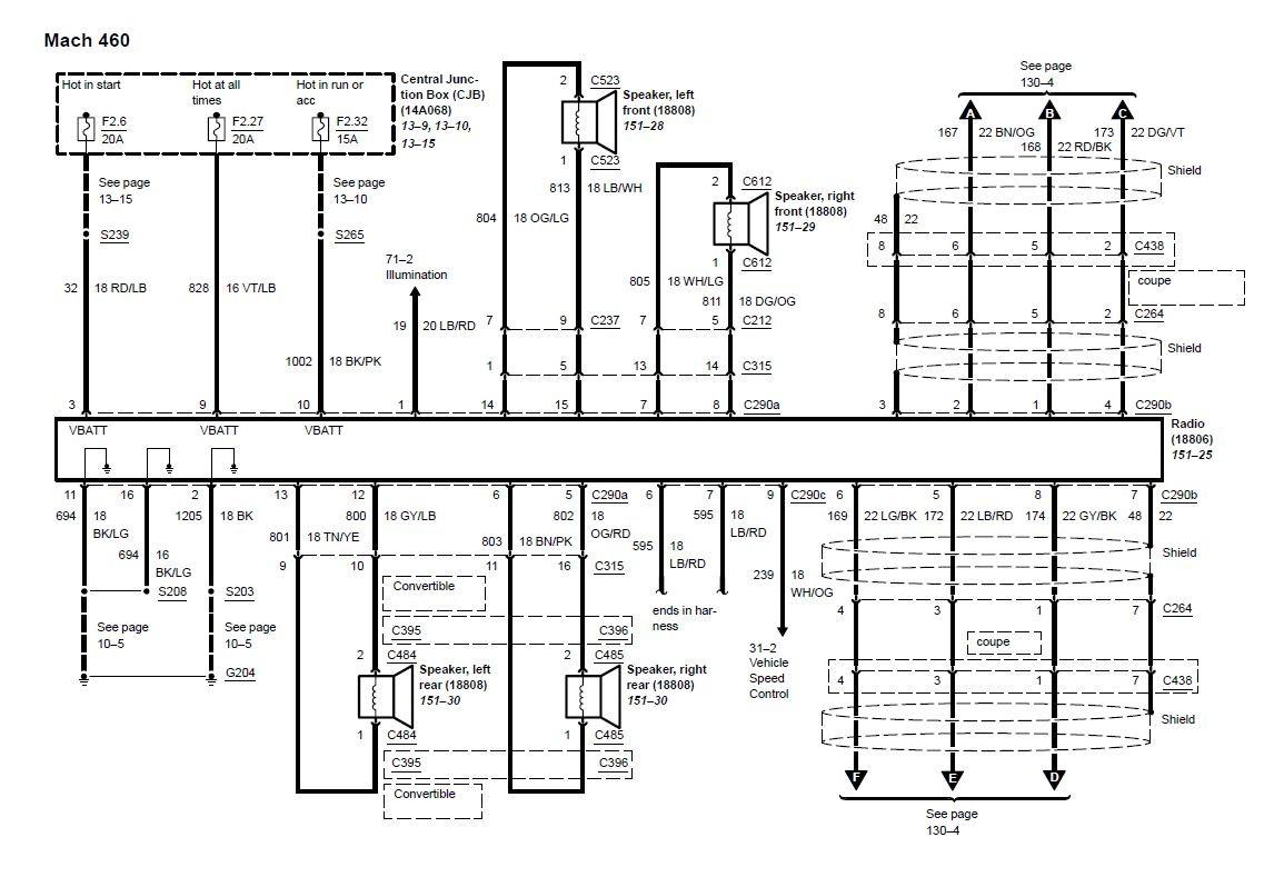 mach 460 radio diagram 03 04 mustang mach 460 wiring diagram 2004 mustang mach stereo wiring