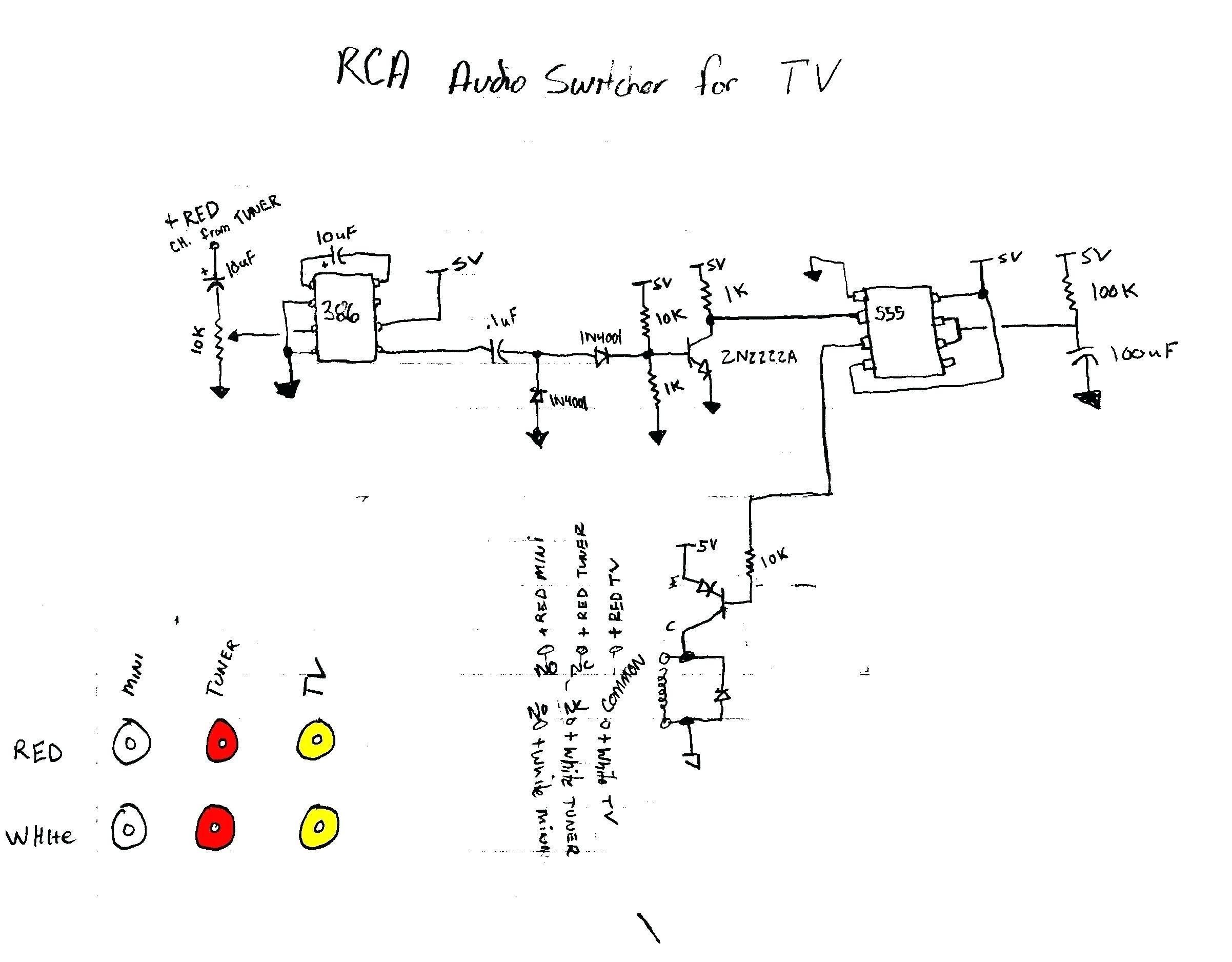 rca to vga schematic wiring diagram
