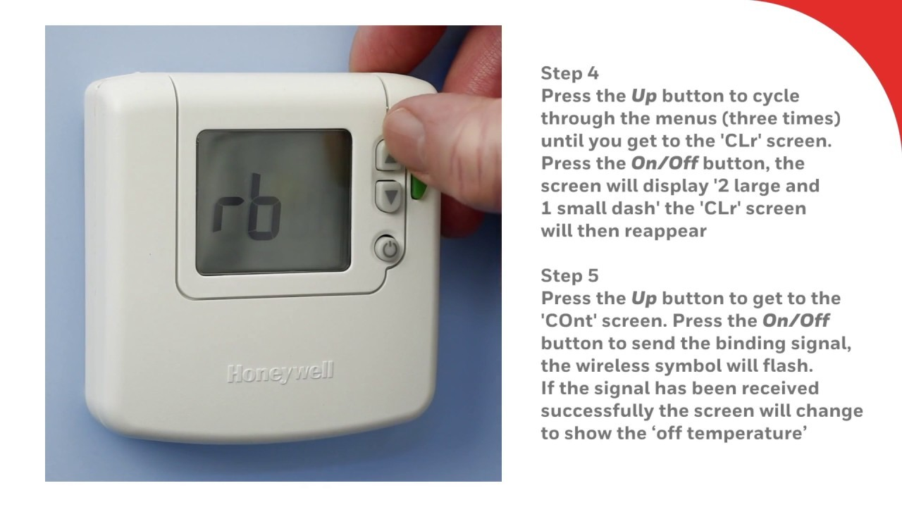 Re binding the DT92E Wireless Room Thermostat