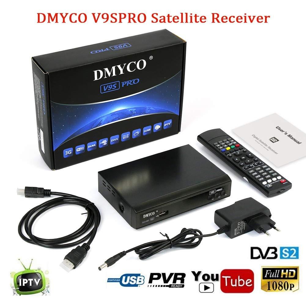 Satellite Receiver FTA Signal Meter TV Tuner Sat Decoder DVB S2 Digital TV Equipment Supports MPEG 5 USB PVR Function Multiple LNB Switching Control