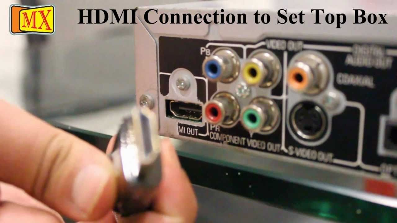 How to connect a Set top box to TV HDTV LCD LED Plasma or Smart TV