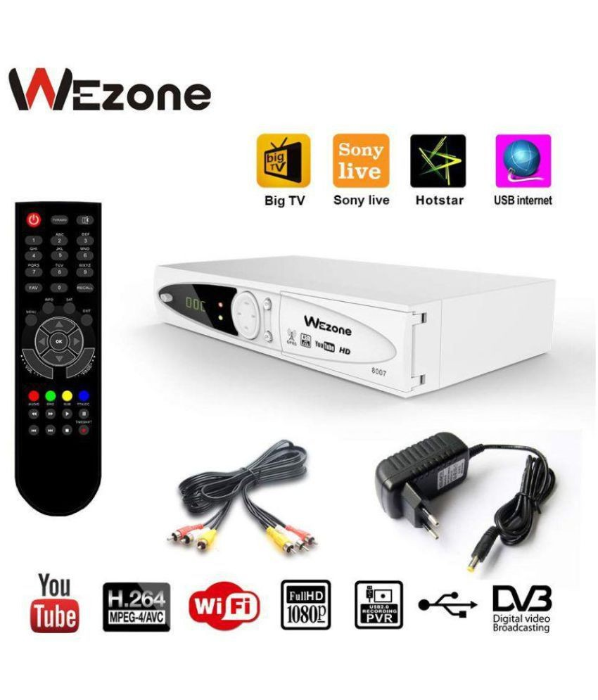 Wezone 8007 DVB S2 Set Top Box Satellite TV Receiver 1080 HD Support PVR and