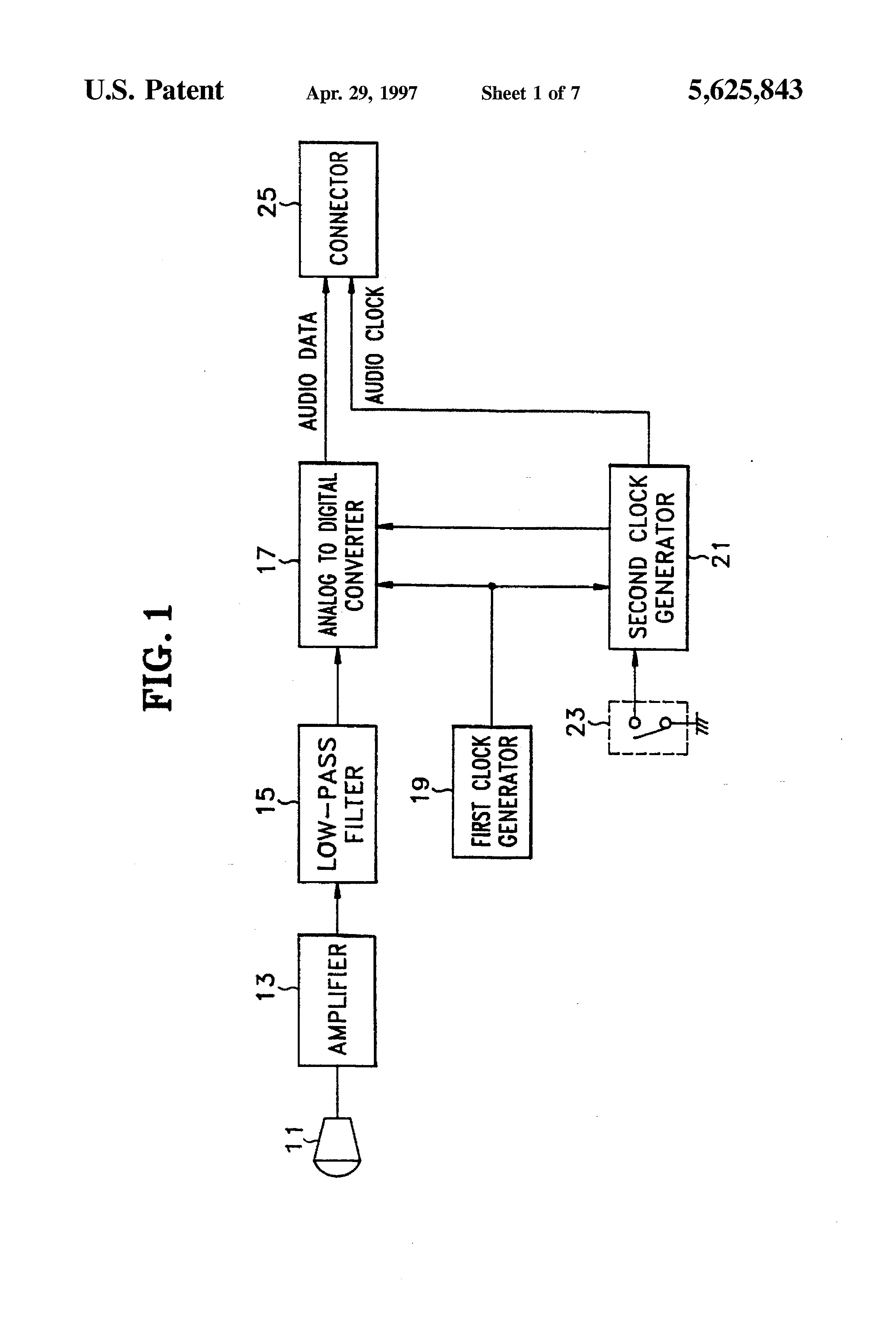 US A Audio data input device for multi media puter Google Patents