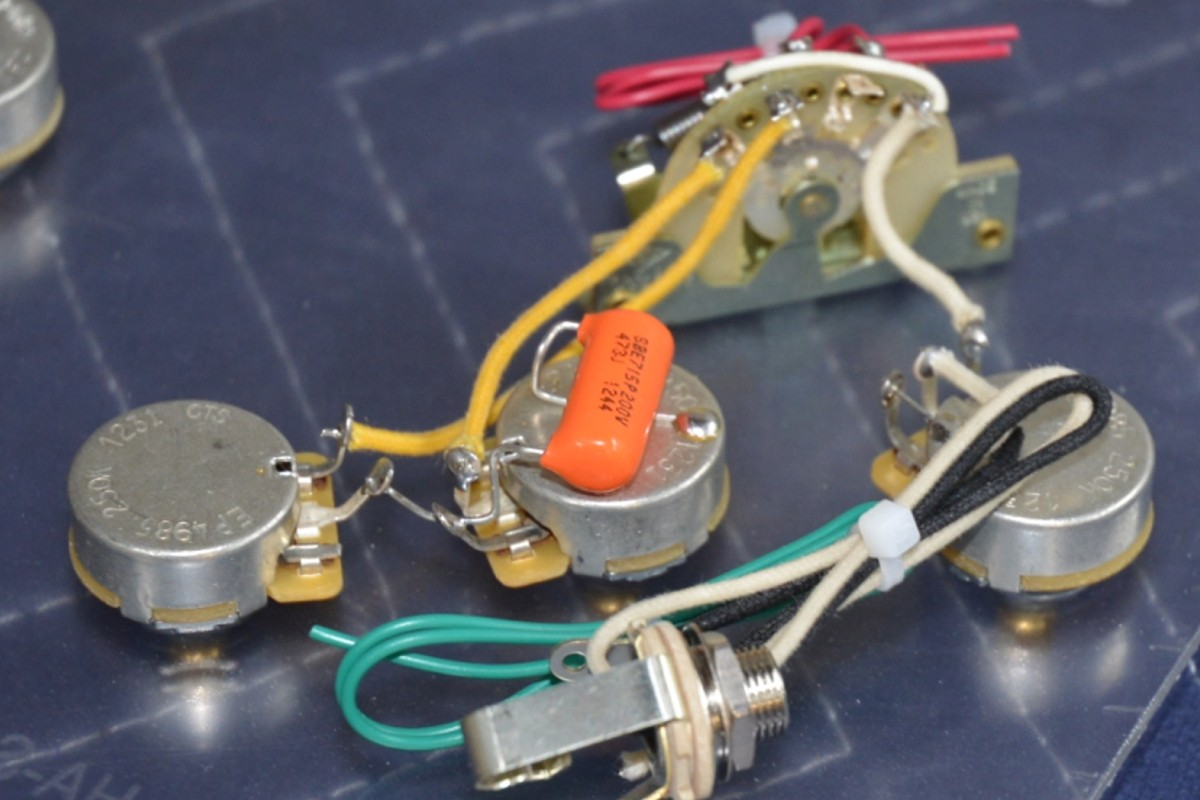 Stratocaster Wiring Harness HH 2 Volumes 1 Tone