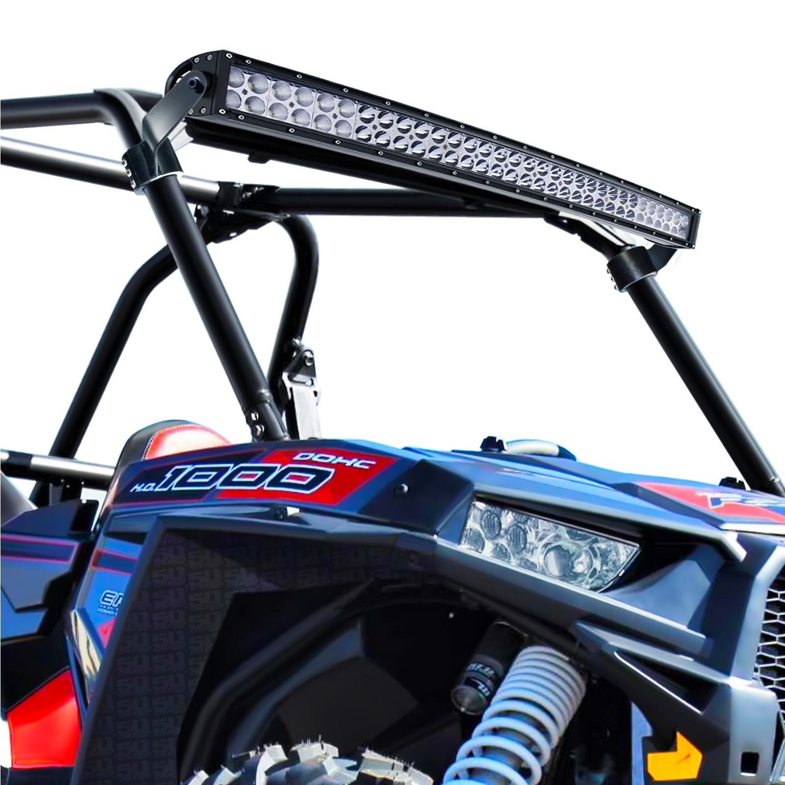 "Polaris RZR XP1000 Radius Light Bar Bracket bo with 40"" Radius Light Bar"