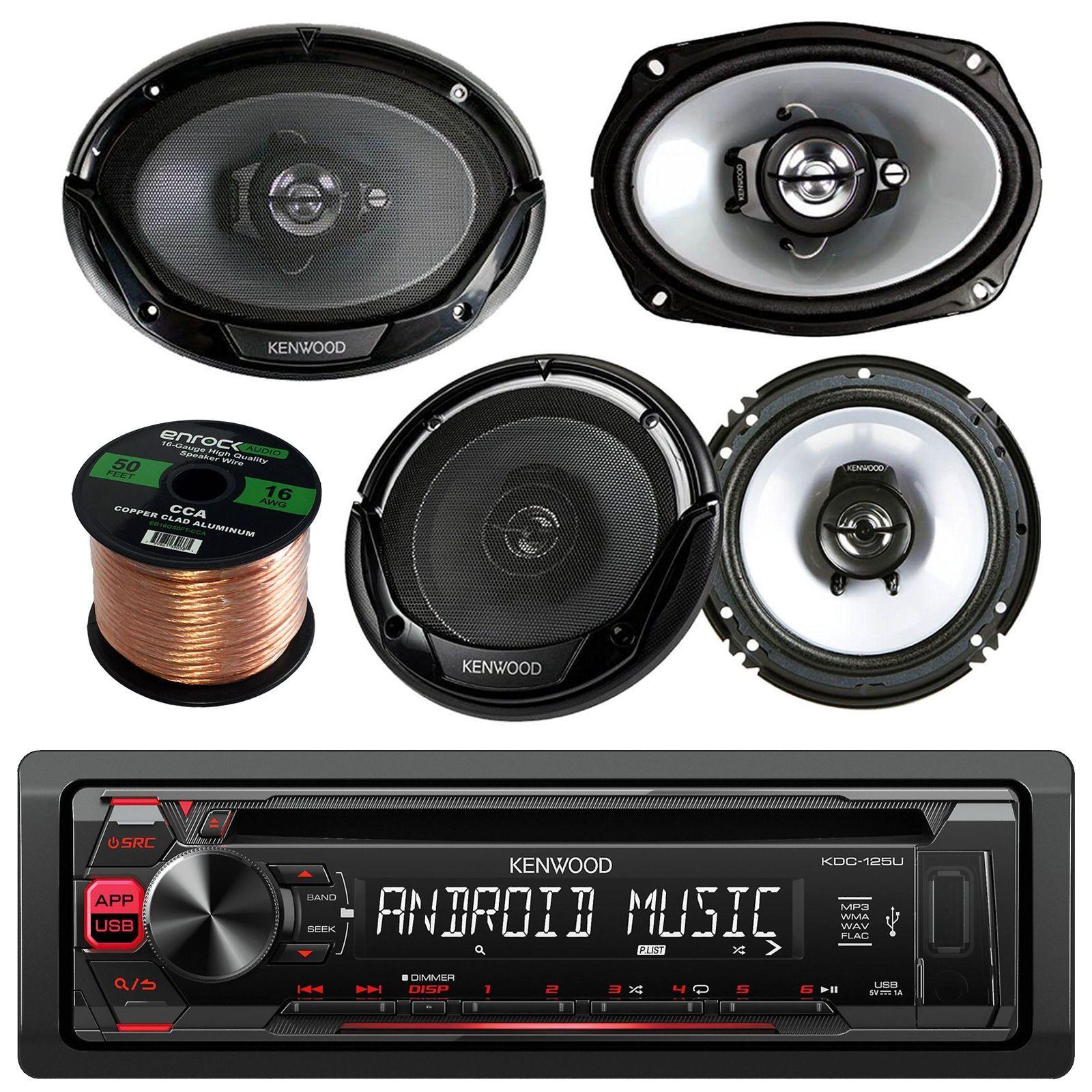 Kenwood Car CD MP3 AM FM AUX USB Receiver & Remote 2 X 6 5 2 X 69 Speakers