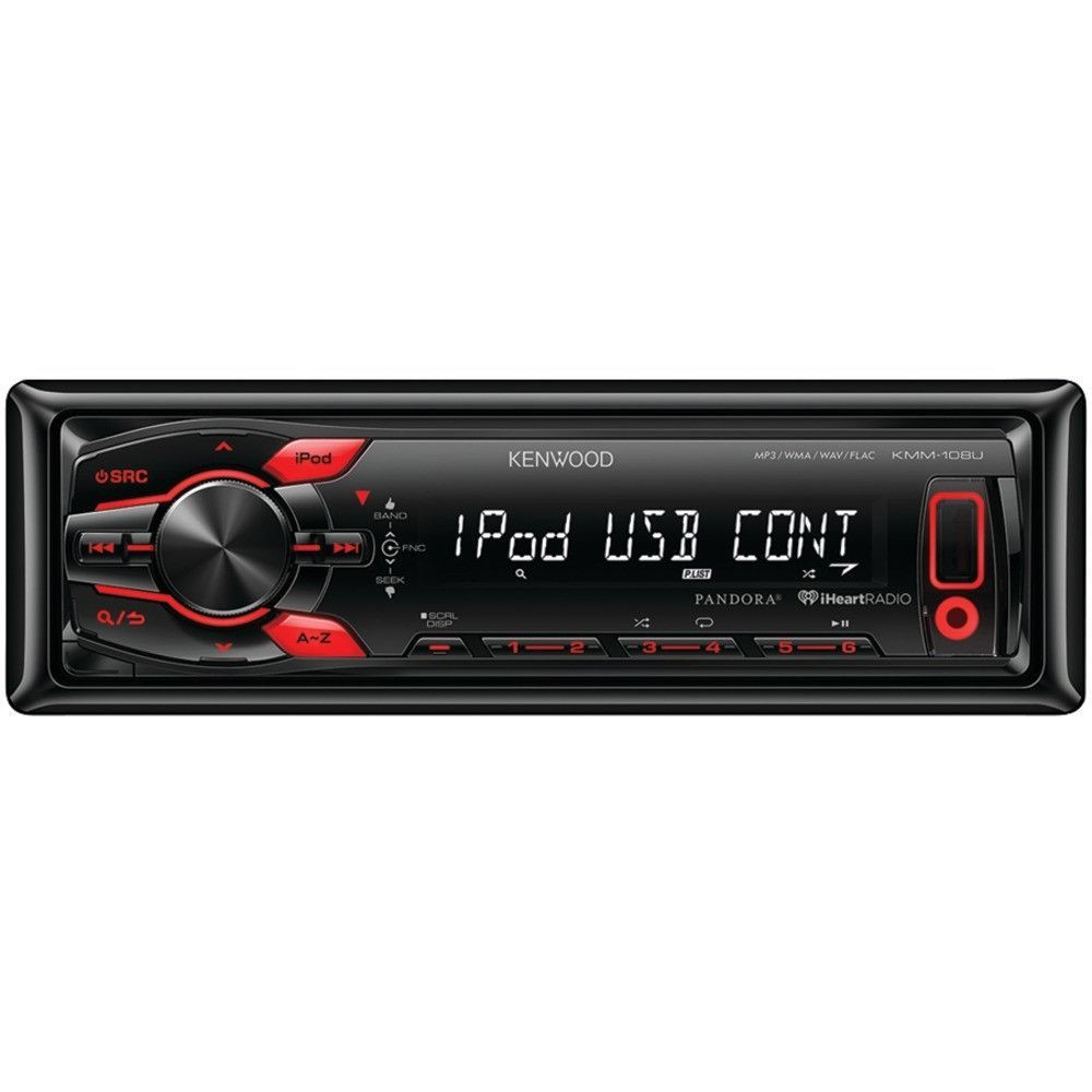 Kenwood Single din In dash Mechless Media Receiver With Front Usb