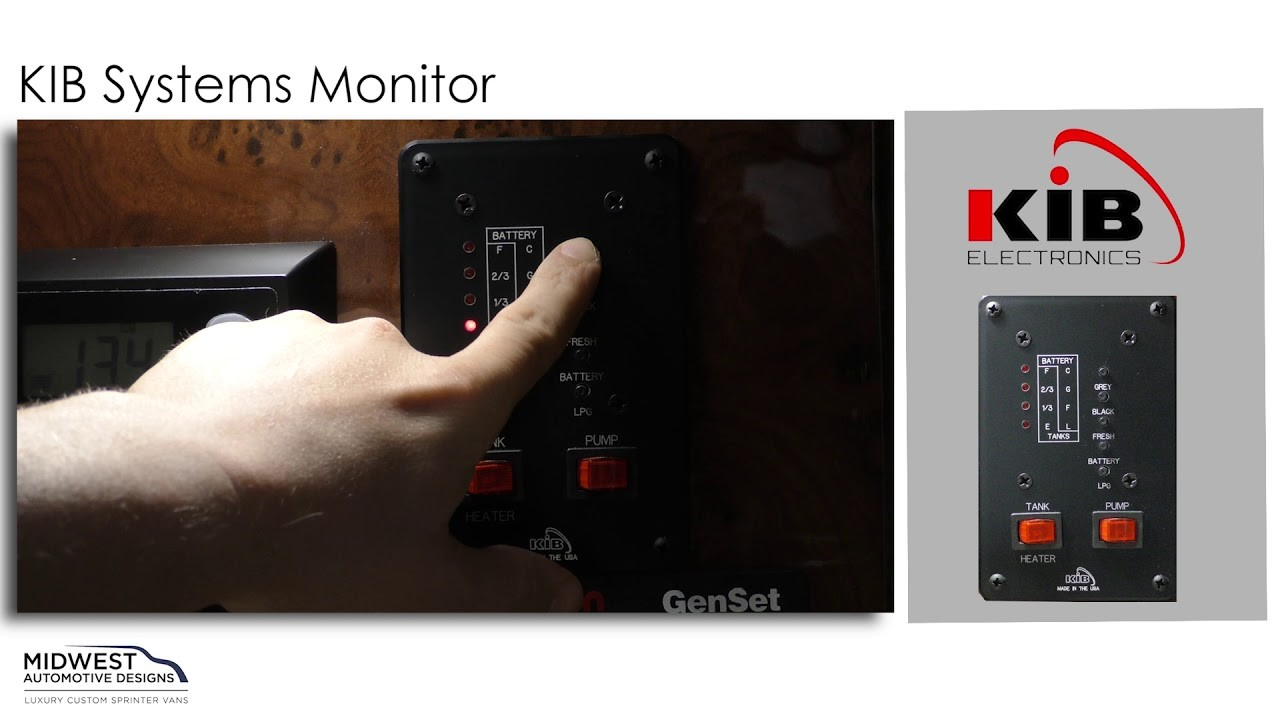 Monitoring Your Luxury Custom Van with the KIB Systems Monitor