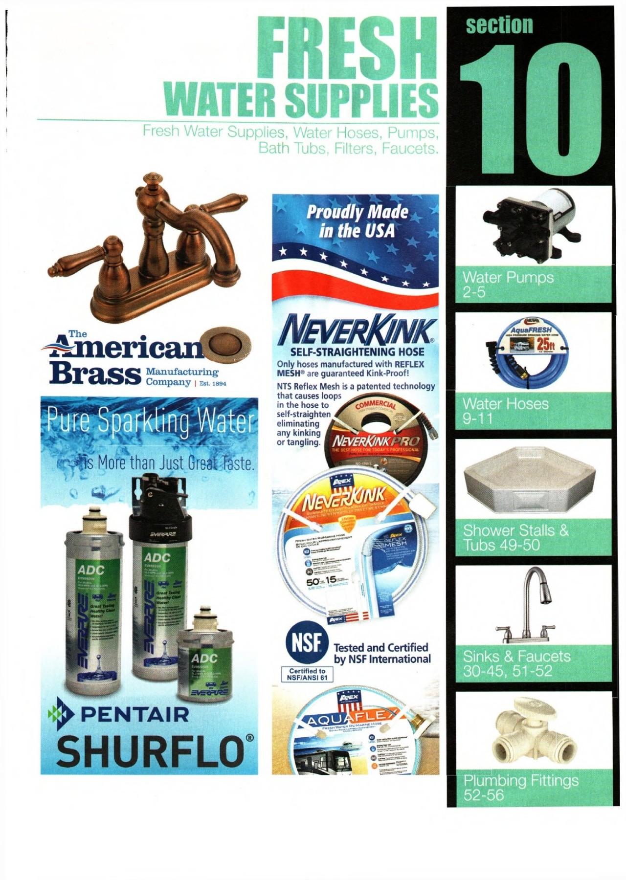 10 Fresh water supplies
