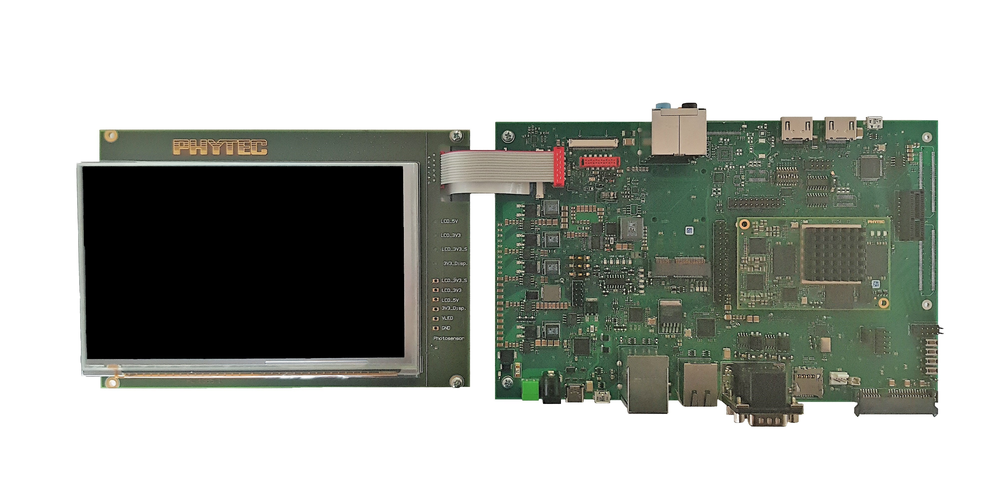 phyCORE i MX 8 with Carrier Board and Display