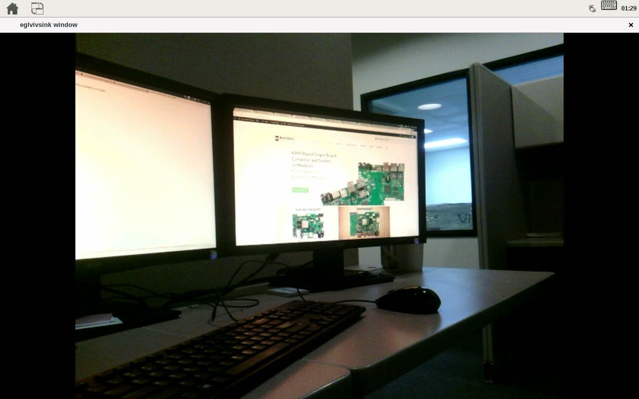 Launching the respective video input test will show up on the screen and look like this