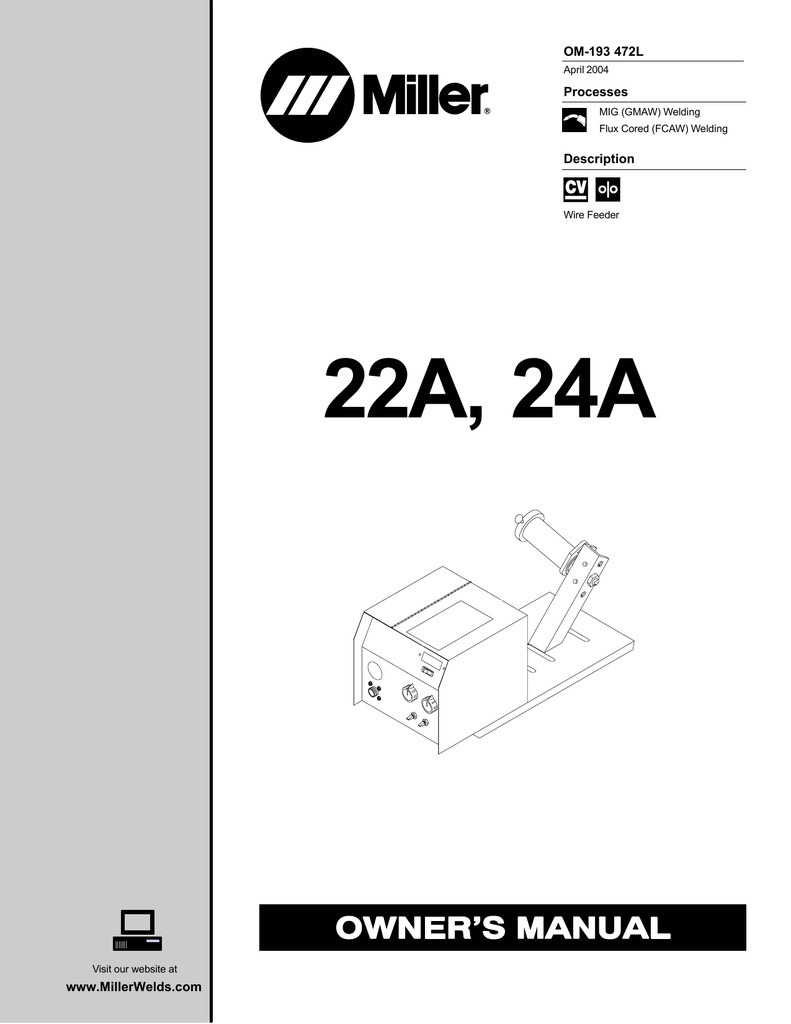 Miller Electric 22A Owner s manual