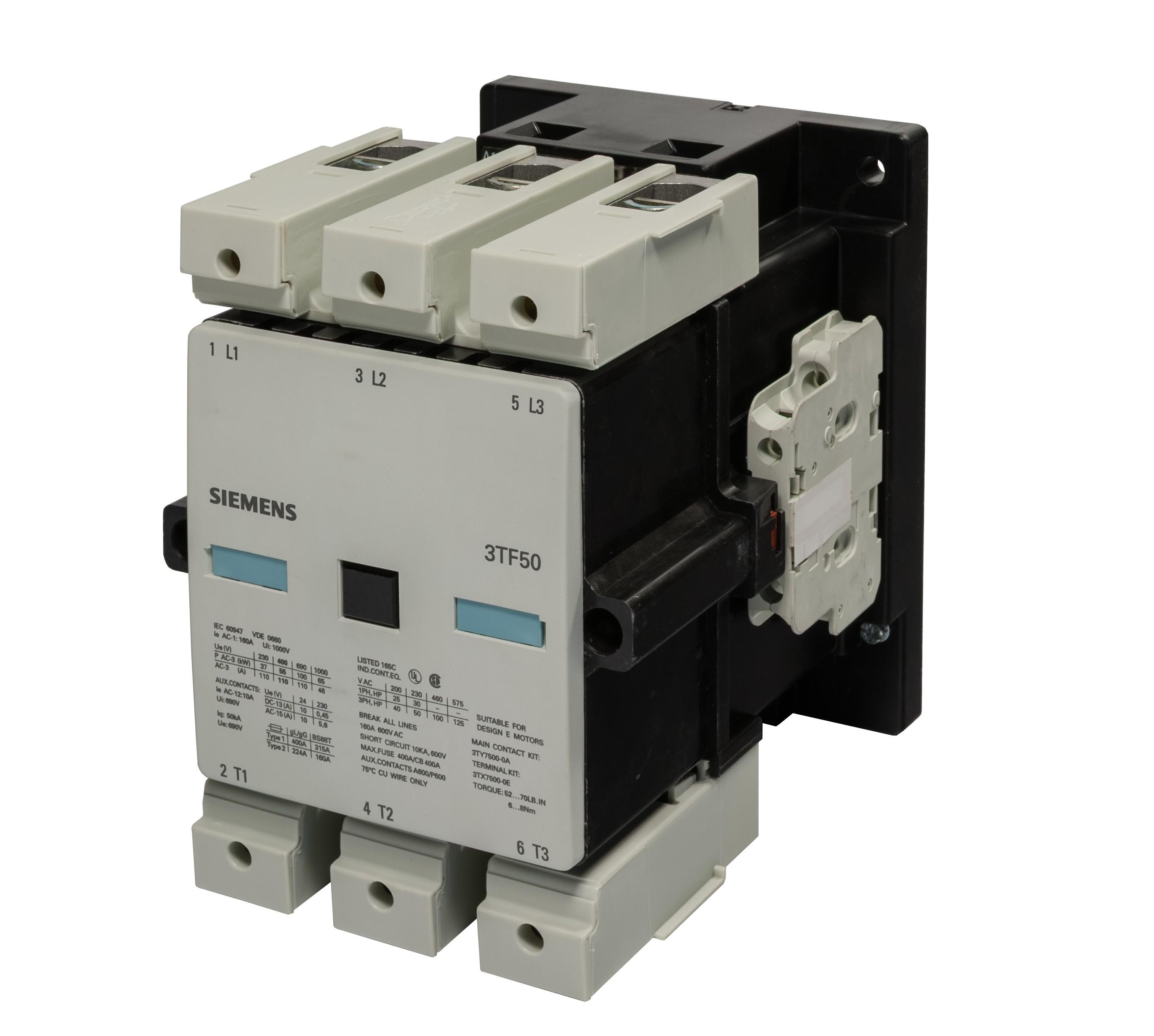 Siemens 3TF5022 0D motor starters Siemens contactors
