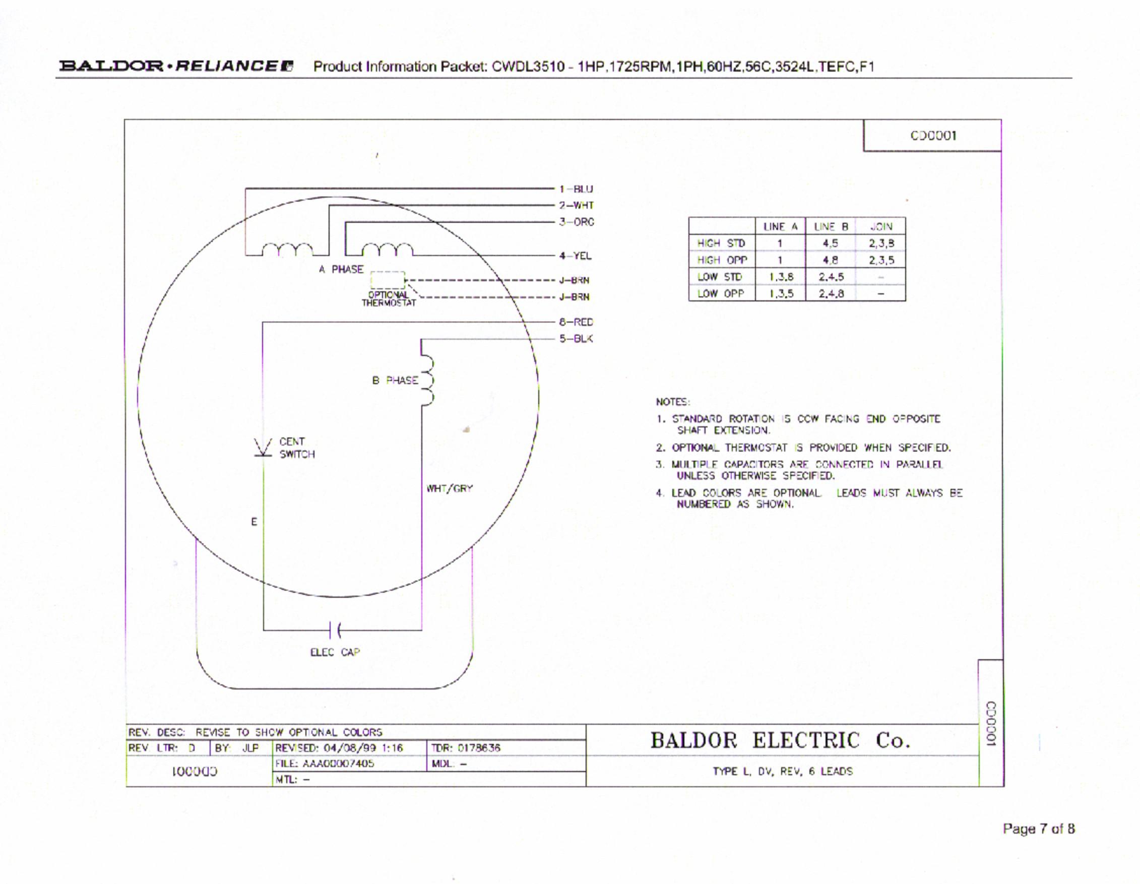 Motor Wiring Dayton Electric Motor 1 3 Hp Baldor 3 Phase Motor Baldor Motor Wiring Connection Baldor Motor Wiring
