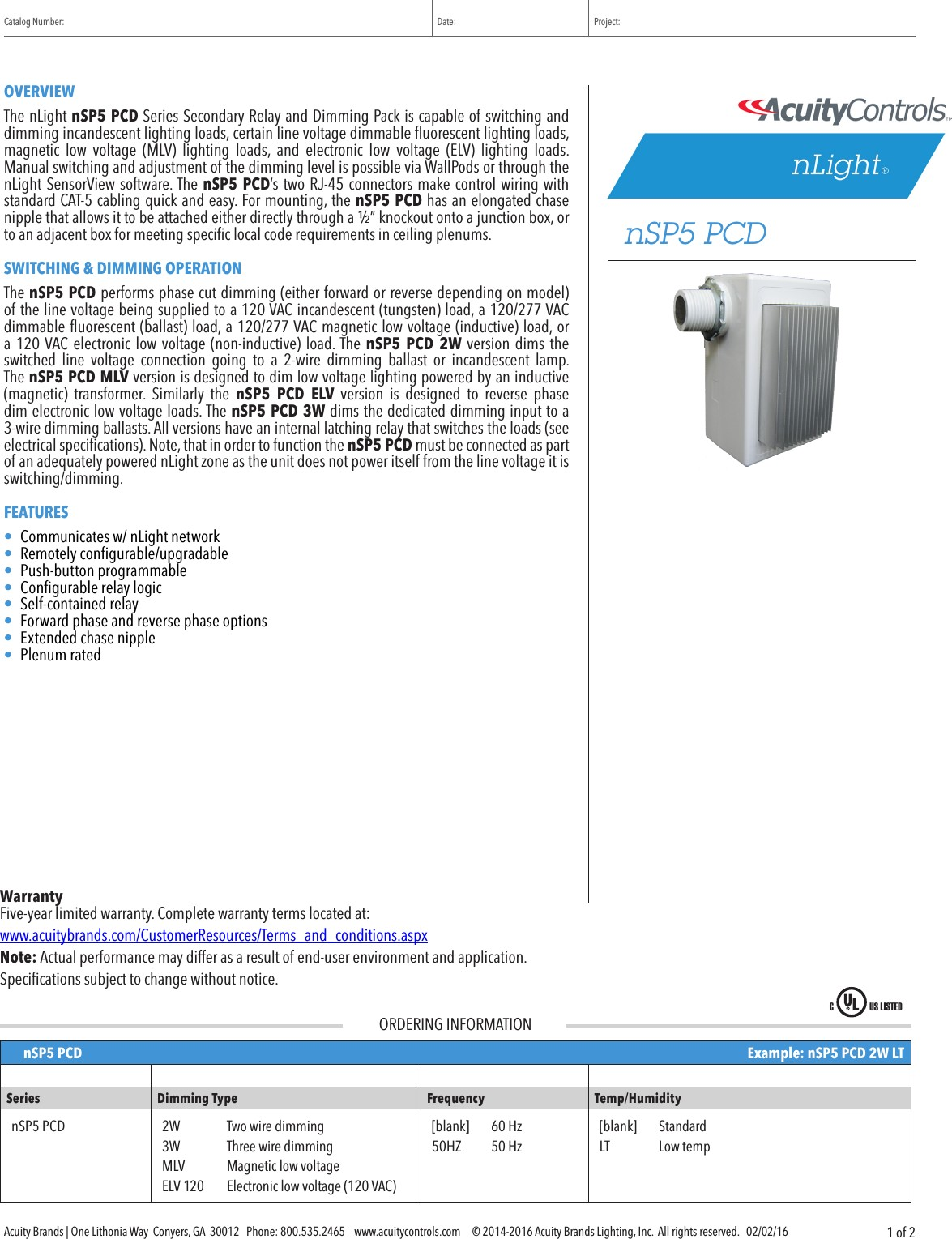 Catalog User Guide Page 1