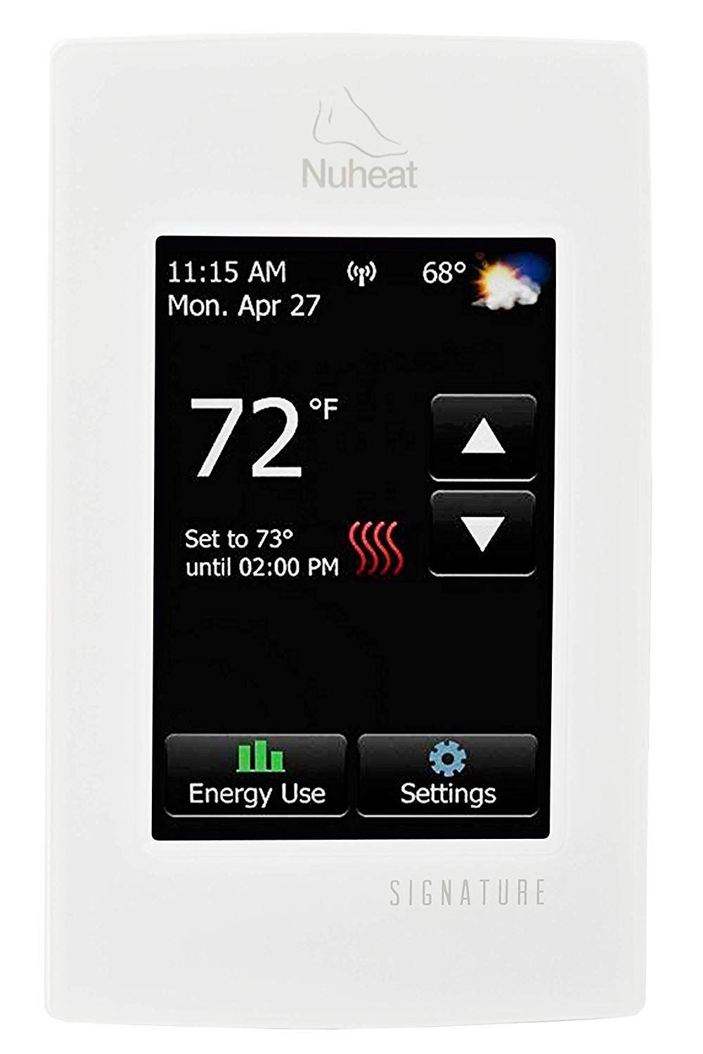Nuheat SIGNATURE Programmable Dual Voltage Thermostat with WiFi and Touchscreen Interface Works with NEST Amazon