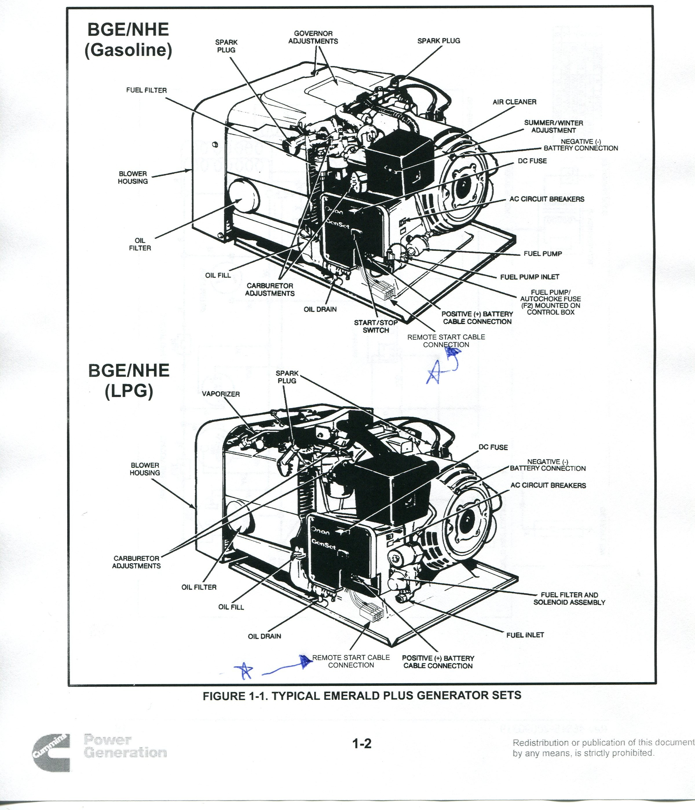 Wiring Diagram Onan 4000 Generator Parts Manual Guide