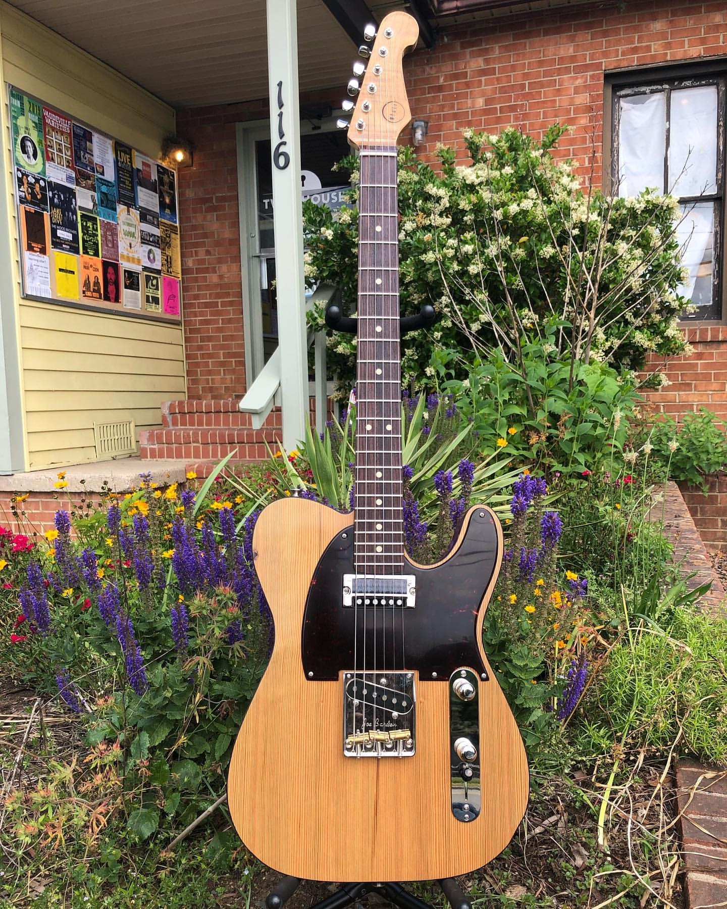 Blair Instruments delivered this beautiful Toasted Tele to the shop last night Here s the specs Torrified Poplar back Torrified Curly Maple neck 100