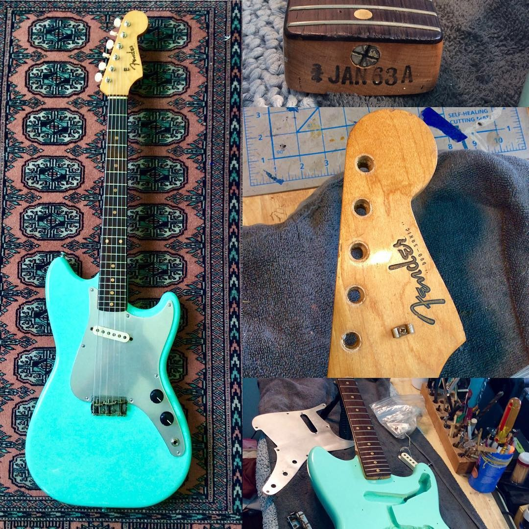 """Resurrected James brought in his 1963 Fender Duo Sonic that was """"loose"""
