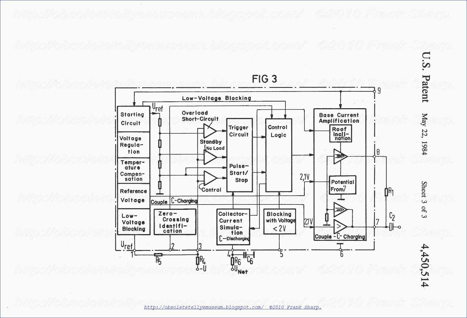 The block diagram of the control circuit according to FIG