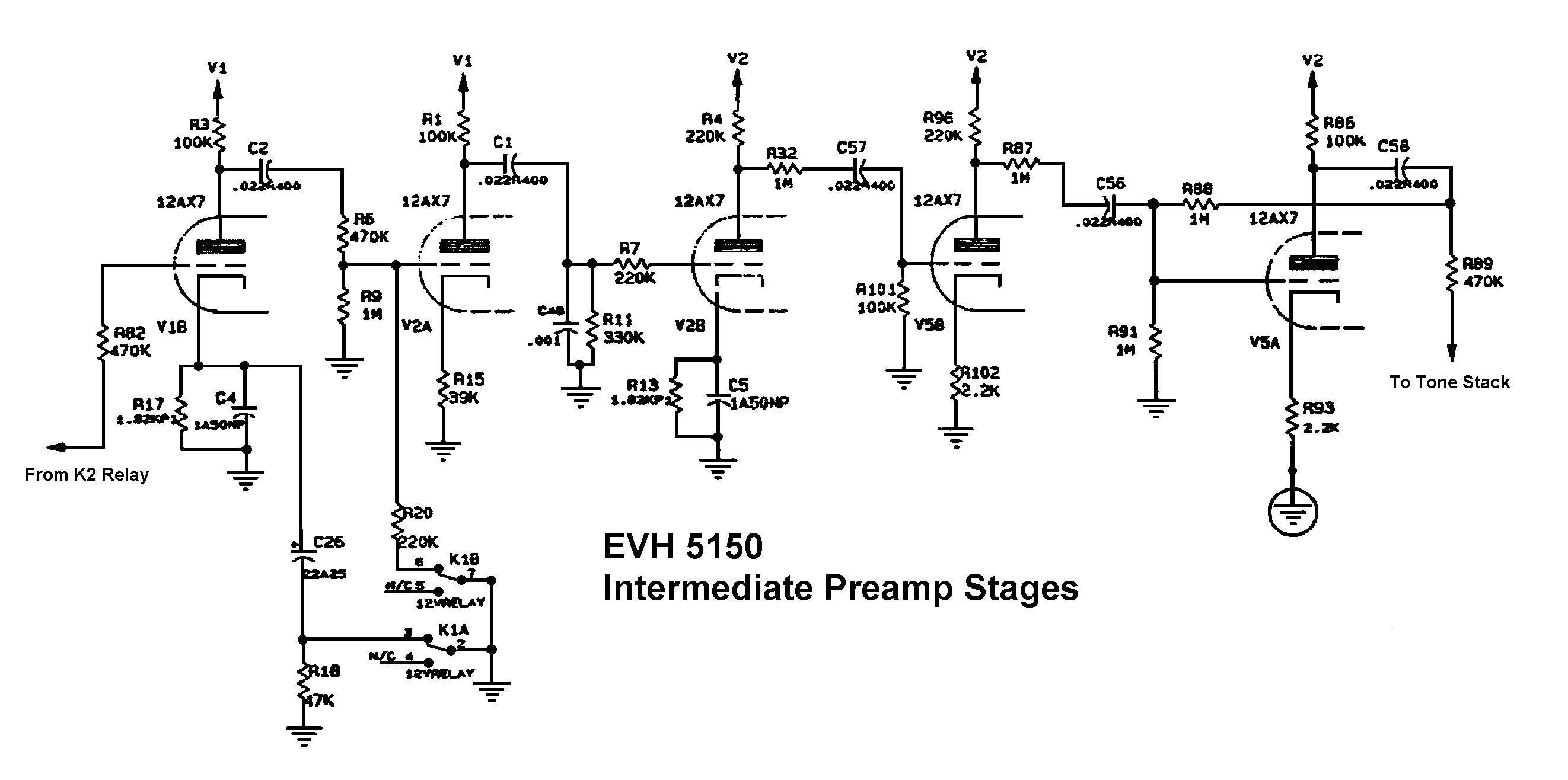 EVH 5150 Tone StackI