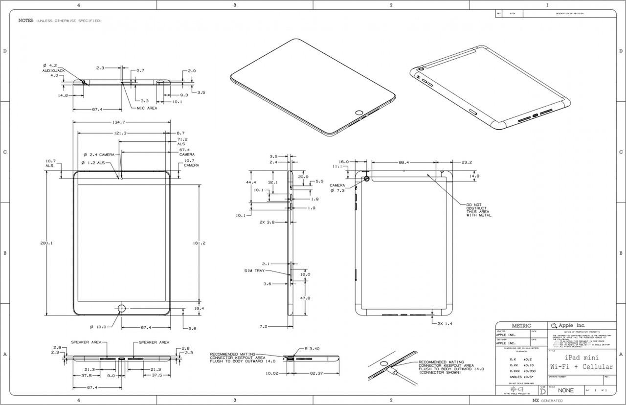 Apple Posts Schematics For Ipad Mini Ipad 4 Iclarified IPod Touch Diagram Ipad 4 Circuit