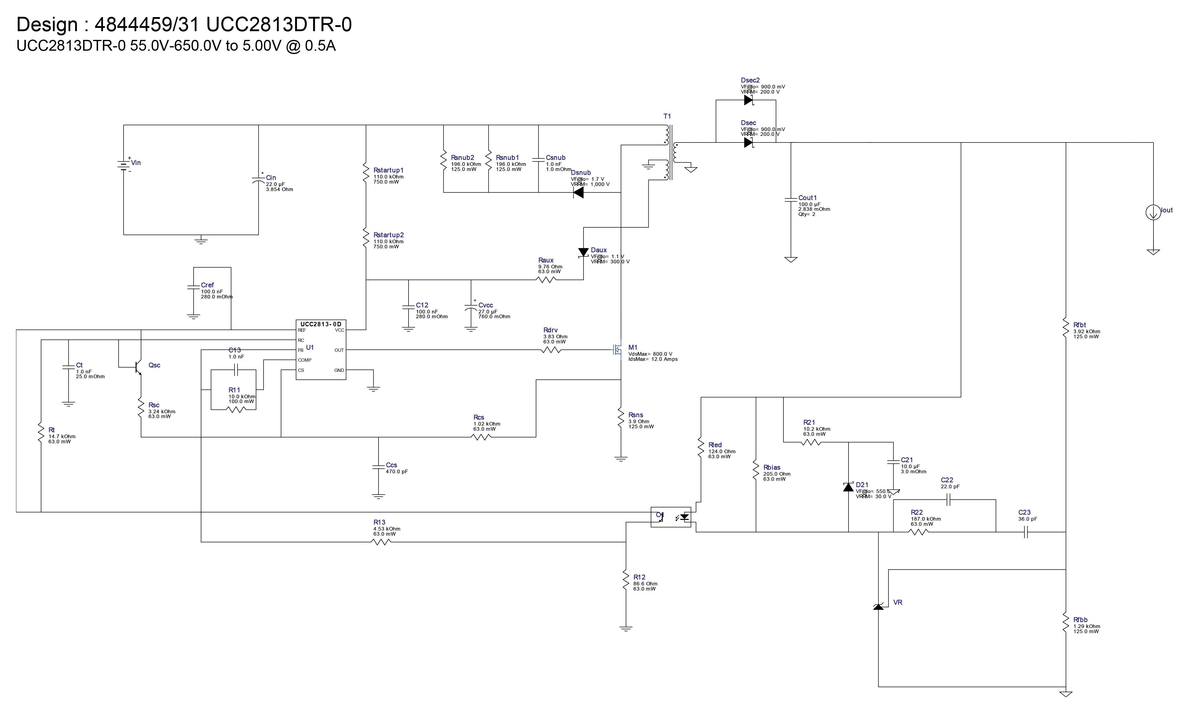 TI Webench DC DC schematic