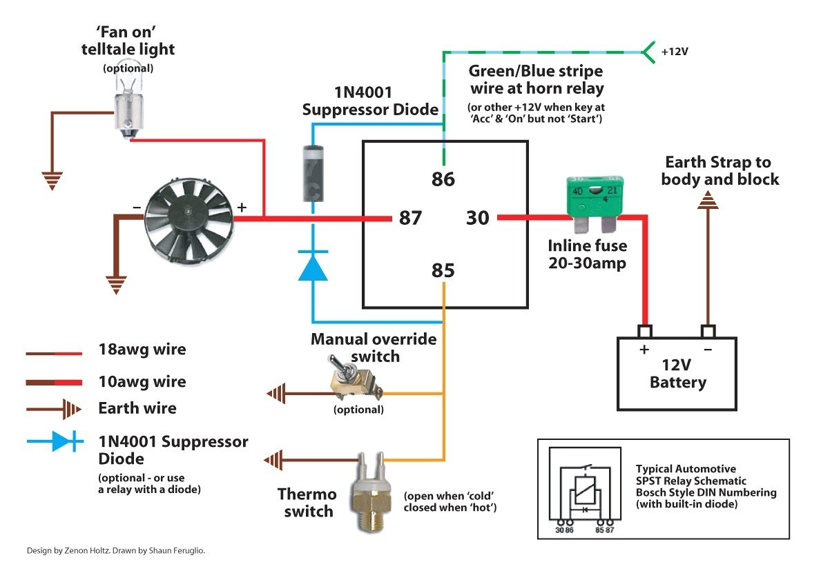 electric fan wiring diagram and horton 0 for e36 electric fan wiring