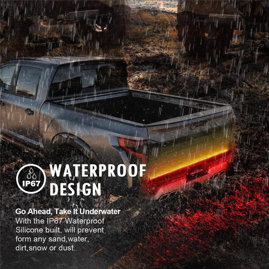 "Details about 60"" Truck Pickup Rear Tailgate LED Light Stripe Indicator Stop Backup DRL Lamp"