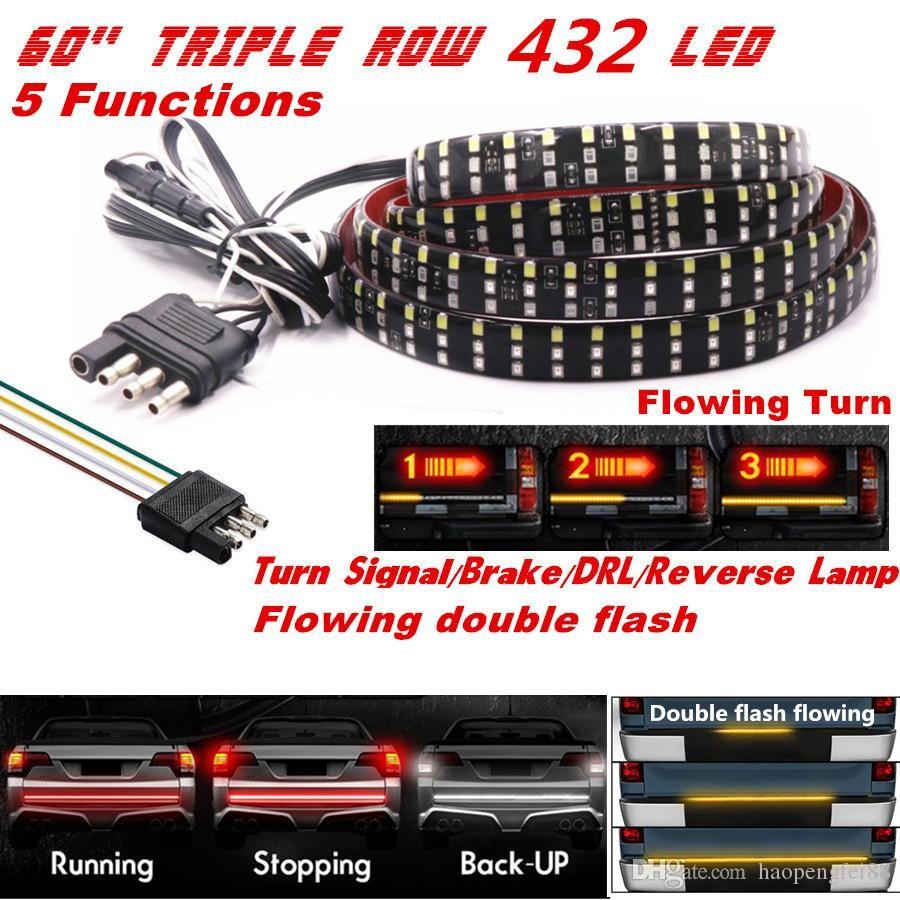 2019 60 Triple Row LED Tailgate Light Bar 5 Modes Reverse Brake Turn Signal Light From Haopengfei88 $27 14