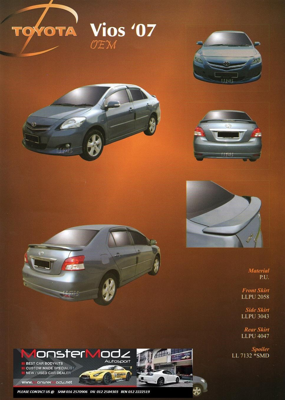 Vios OEM Body Kit