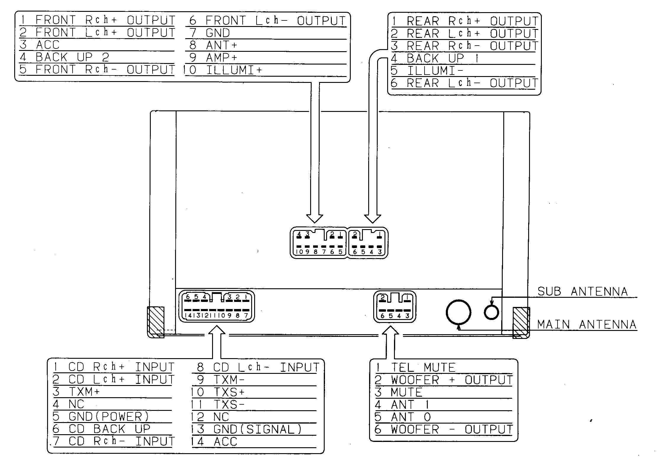 LEXUS Car Radio Stereo Audio Wiring Diagram Autoradio connector wire installation schematic schema esquema de conexiones stecker konektor connecteur cable