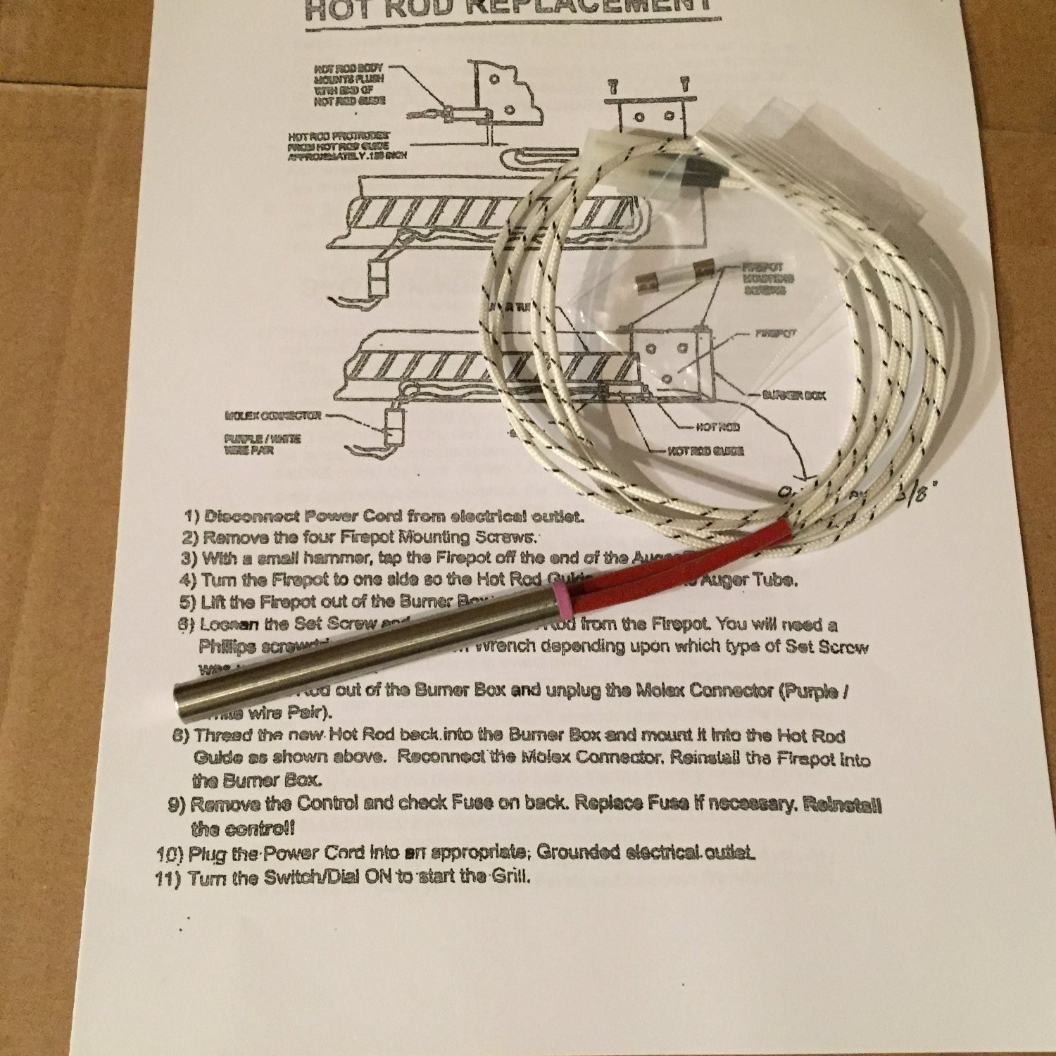 Get Quotations · Pellet Barbecue Igniter for Traeger Grills with Spare Fuse