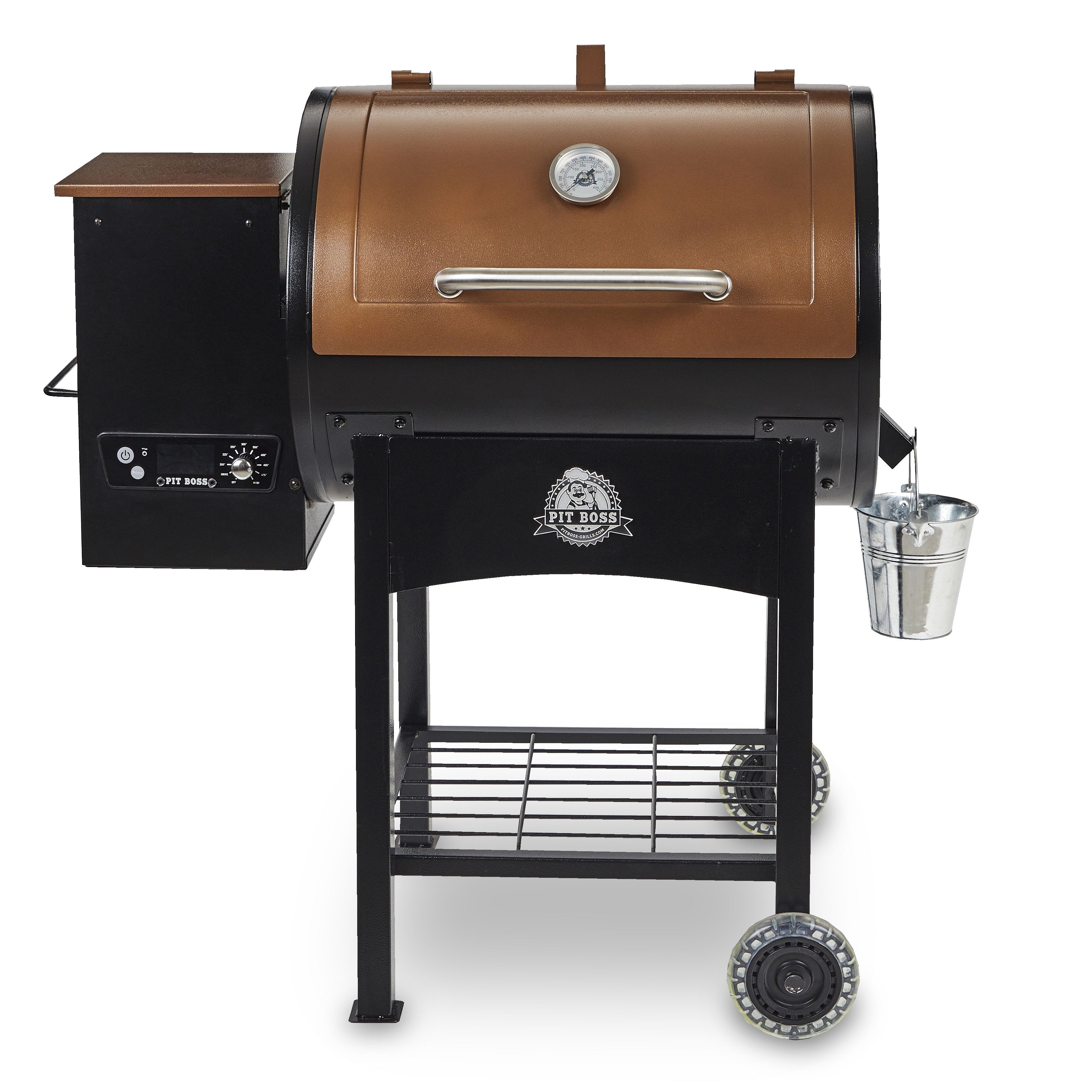 Wood Fired Pellet Grill w Flame Broiler