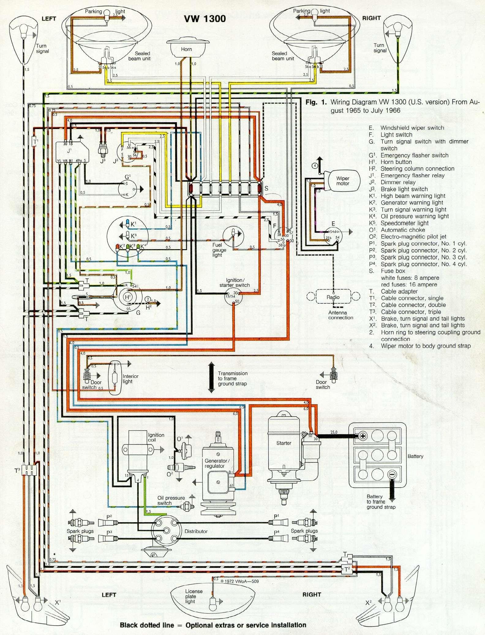 Thesamba Type 1 Wiring Diagrams VW Buggy Wiring Diagram 1965 Vw Wiring Diagram