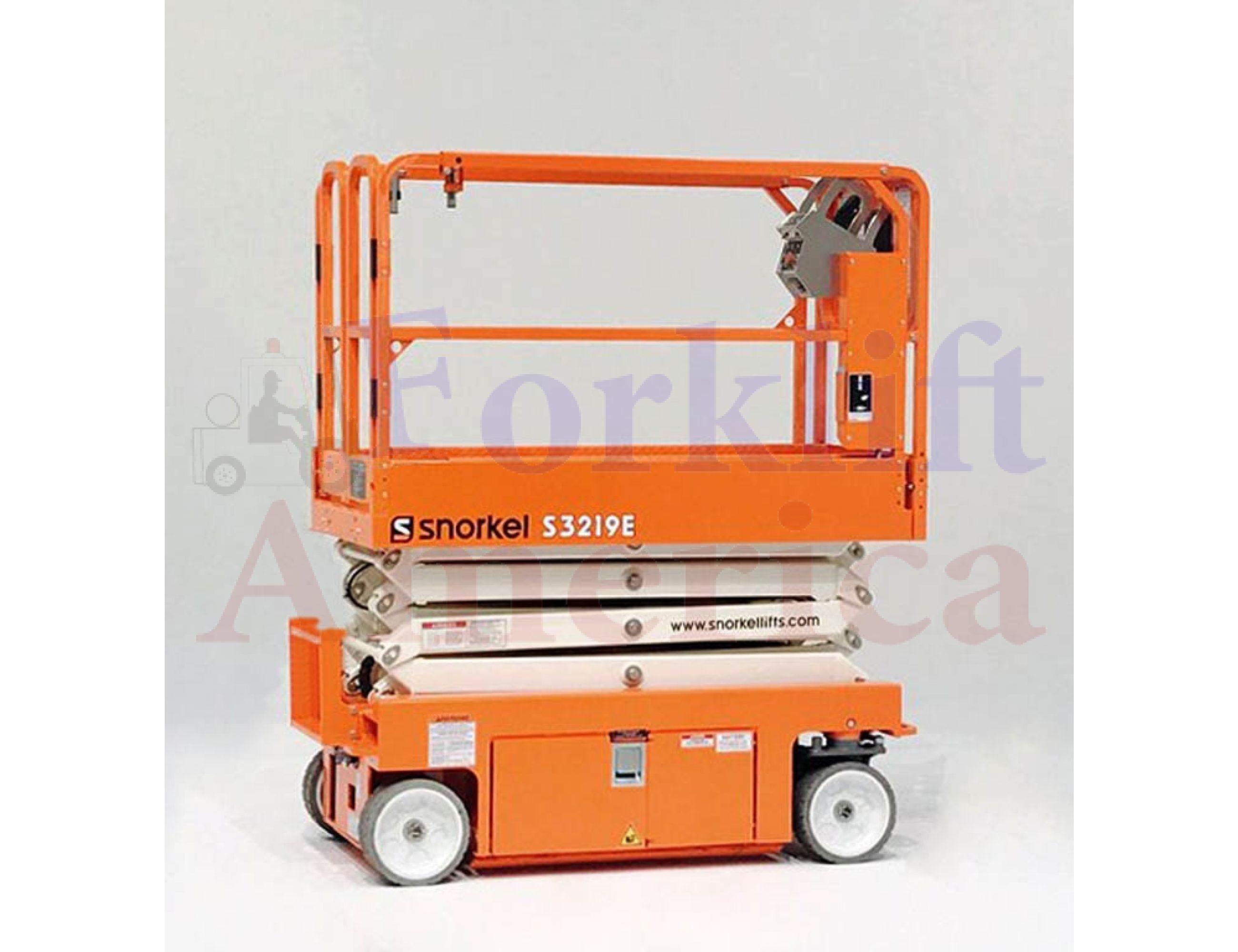 snorkel s3219e electric slab hydraulic drive scissor lift 1 1