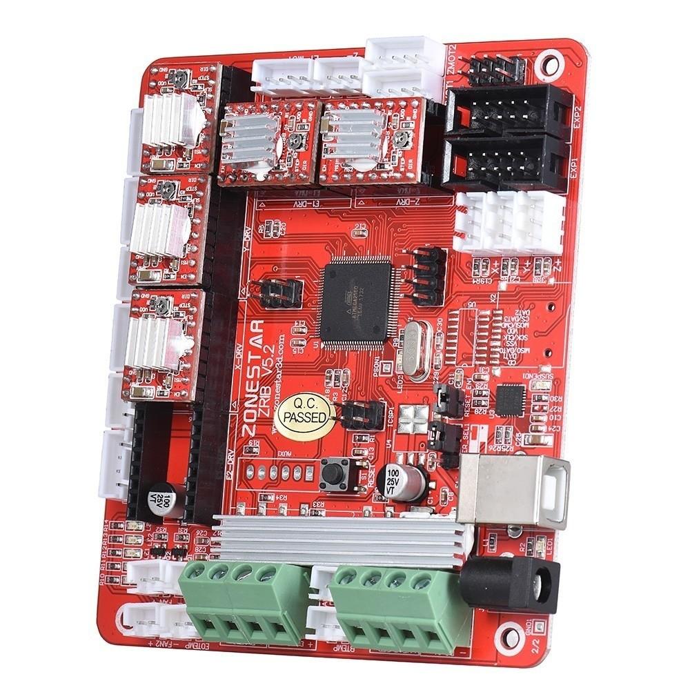 ZONESTAR 3D Printer Controller Control Board Motherboard ZRIB patible With Ramps V1 3 V1 4 ATMEGA2560 Support Three Extruder