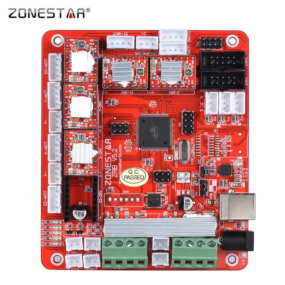 Amazon ZONESTAR ZRIB Controller Board Motherboard Mainboard Adopt ATMEGA 2560 MCU patible for RAMPS 1 4 RepRap Mendel i3 FDM 3D Printer DIY Self