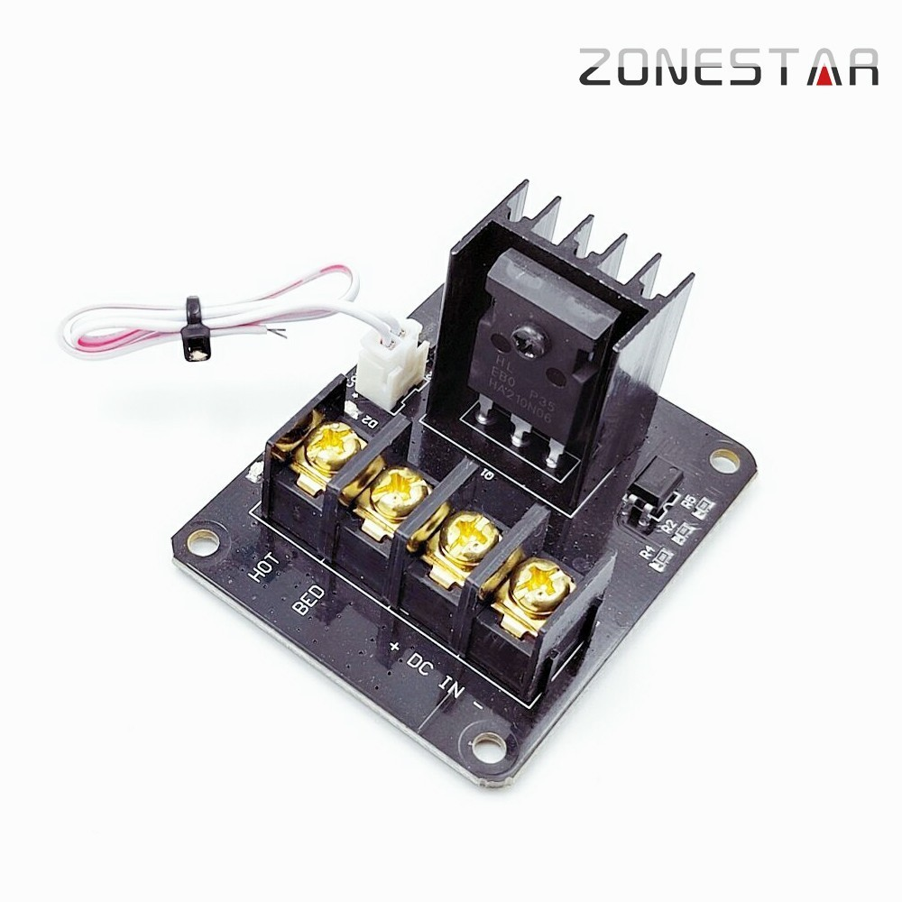 ZONESTAR Heating Controller For Heat Bed MOS Module MOSFETs Transistor MOS FET Device Current Switch Metal