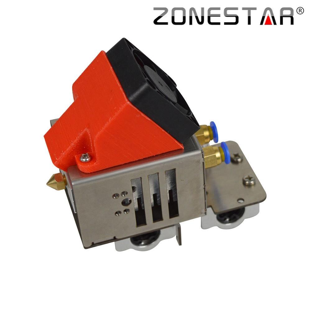 ZONESTAR 3d printer parts extruder 2 in 1 Hotend Extruder 3d printer extruder Nozzle 0 4mm Feed Inlet Diameter 1 75 Filament in 3D Printer Parts